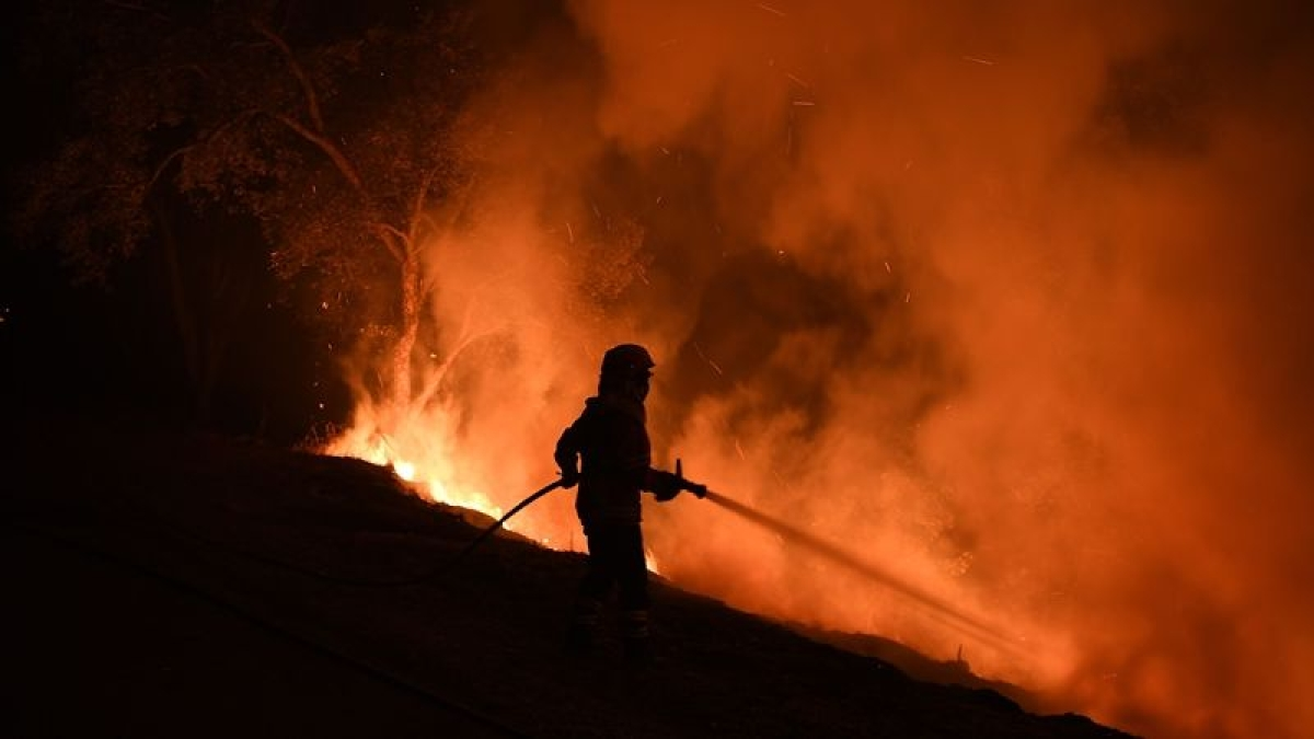 Active wildfire in US grows to over 110,000 acres