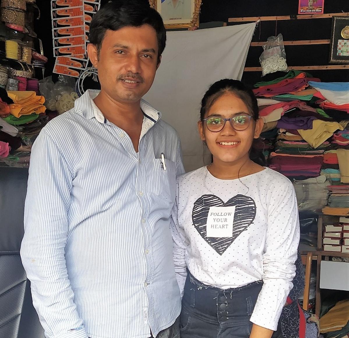 Navin Jain with daughter Hiya