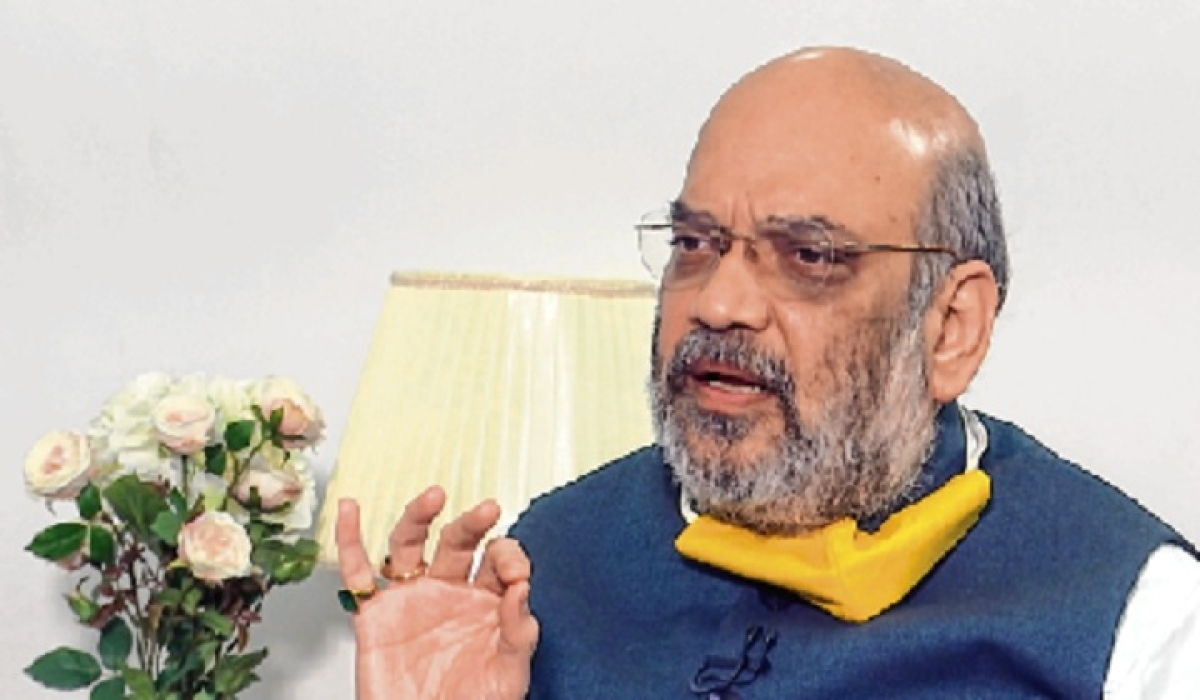 Union Home Minister Amit Shah in New Delhi on Sunday.