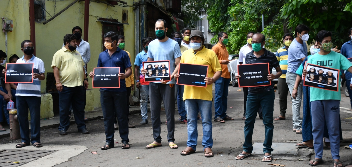 Shivaji Park locals protest cremation of virus-positive bodies