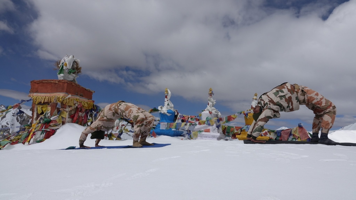 International Yoga Day 2020: ITBP personnel practice Yoga in sub-zero temperature in Ladakh; see pics