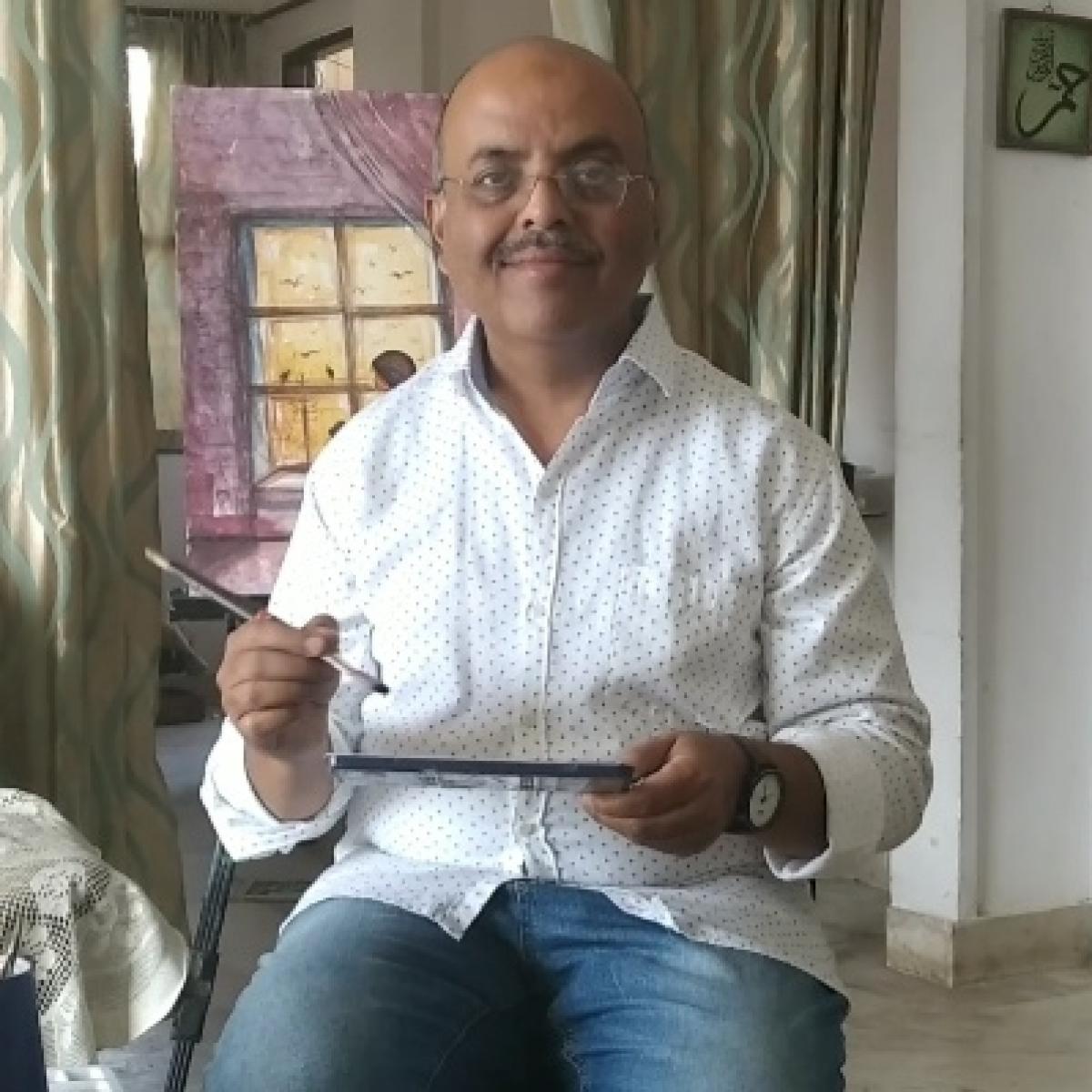 Bhopal: 'Gunah Passport Ka Tha' writer and artist Faisal Mateen auctions works to raise funds for corona