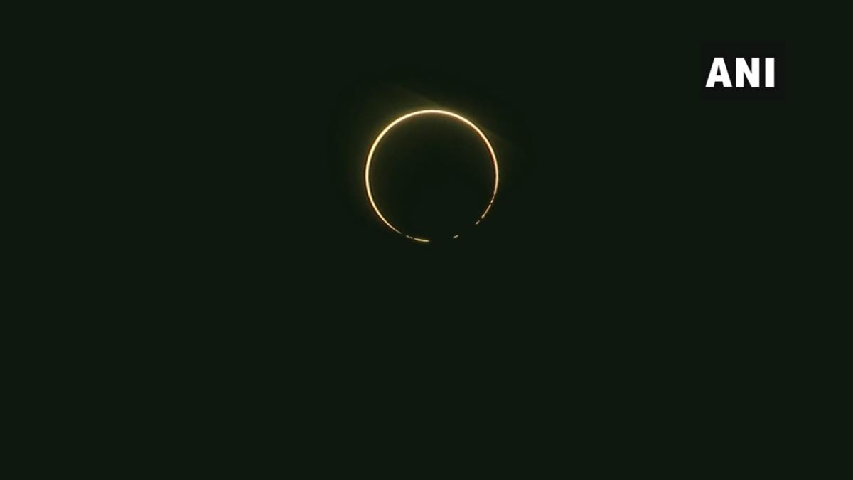 #SolarEclipse2020 as seen in the skies of Dehradun.