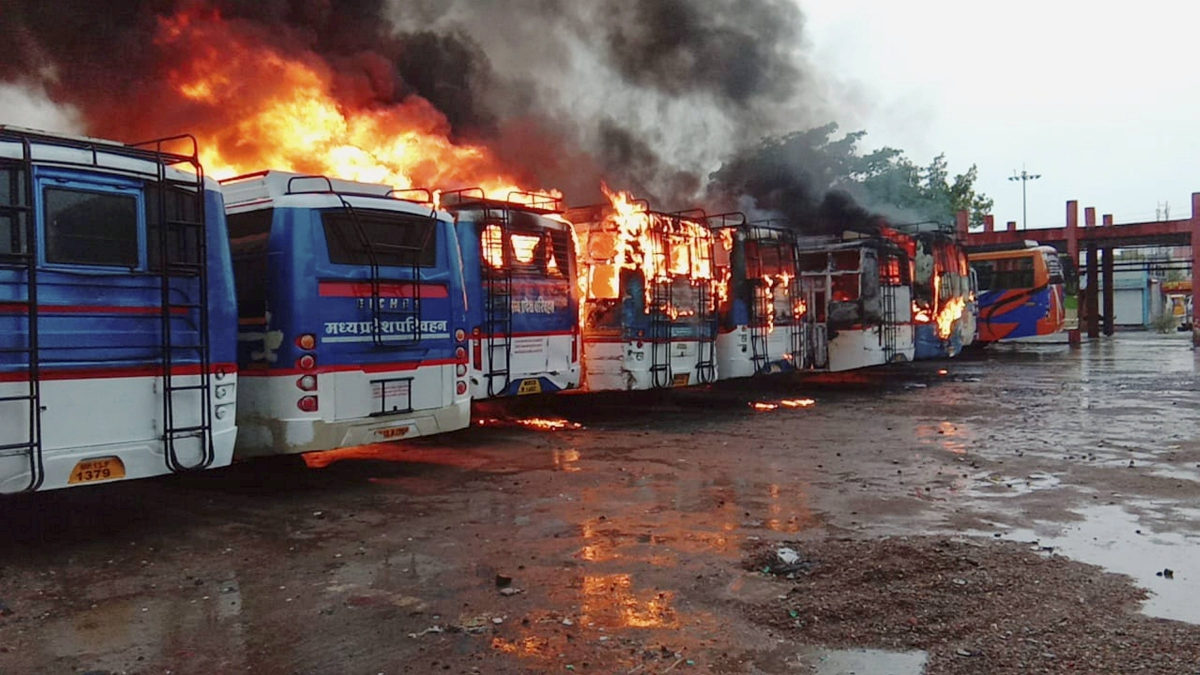 Nine buses gutted in fire of 'mysterious' origin in Ujjain