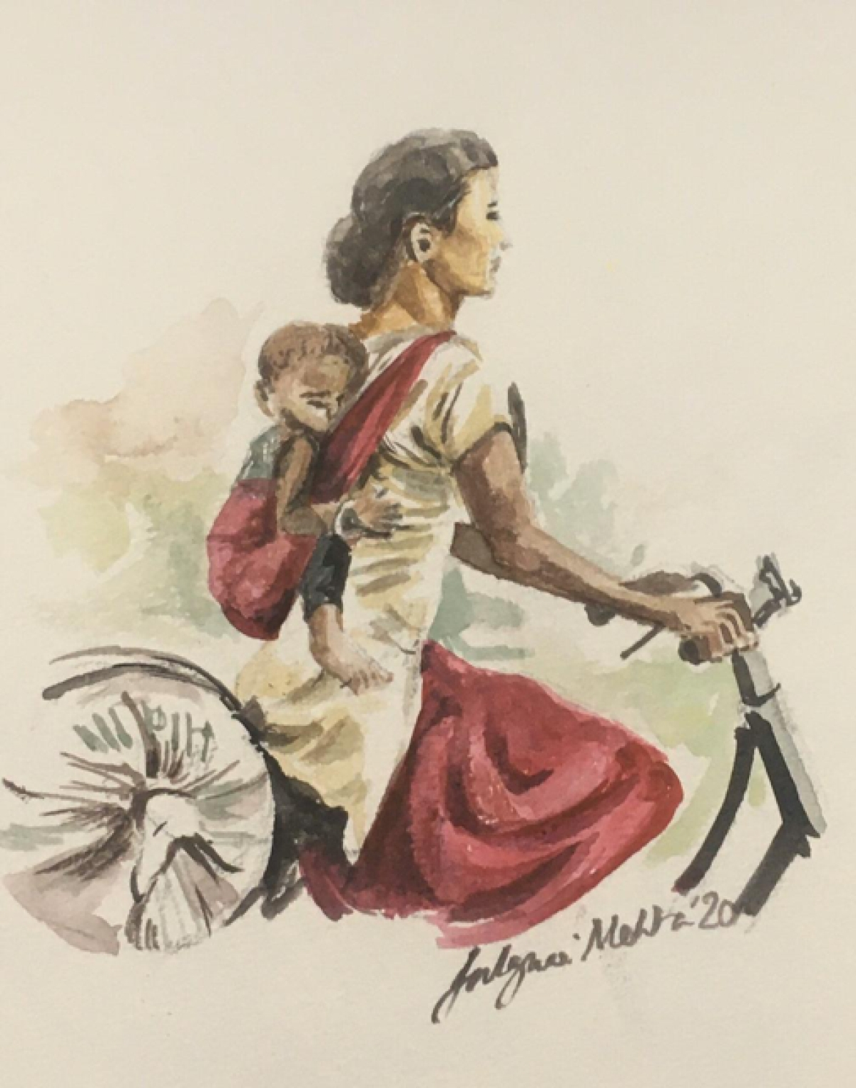 A thousand kilometres is nothing, when a mother is out to save her little ones life. So what if it's to be covered by an ordinary cycle, with a few rupees in her sack, and her baby tied to her while the sun shines so bright!