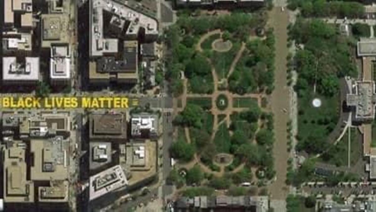Twitter goes ga-ga after street outside White House renamed 'Black Lives Matter Plaza'