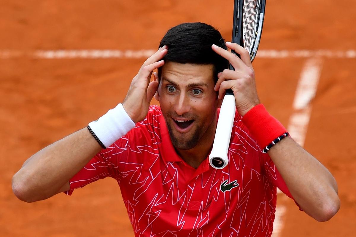 World Number 1 tennis player Novak Djokovic