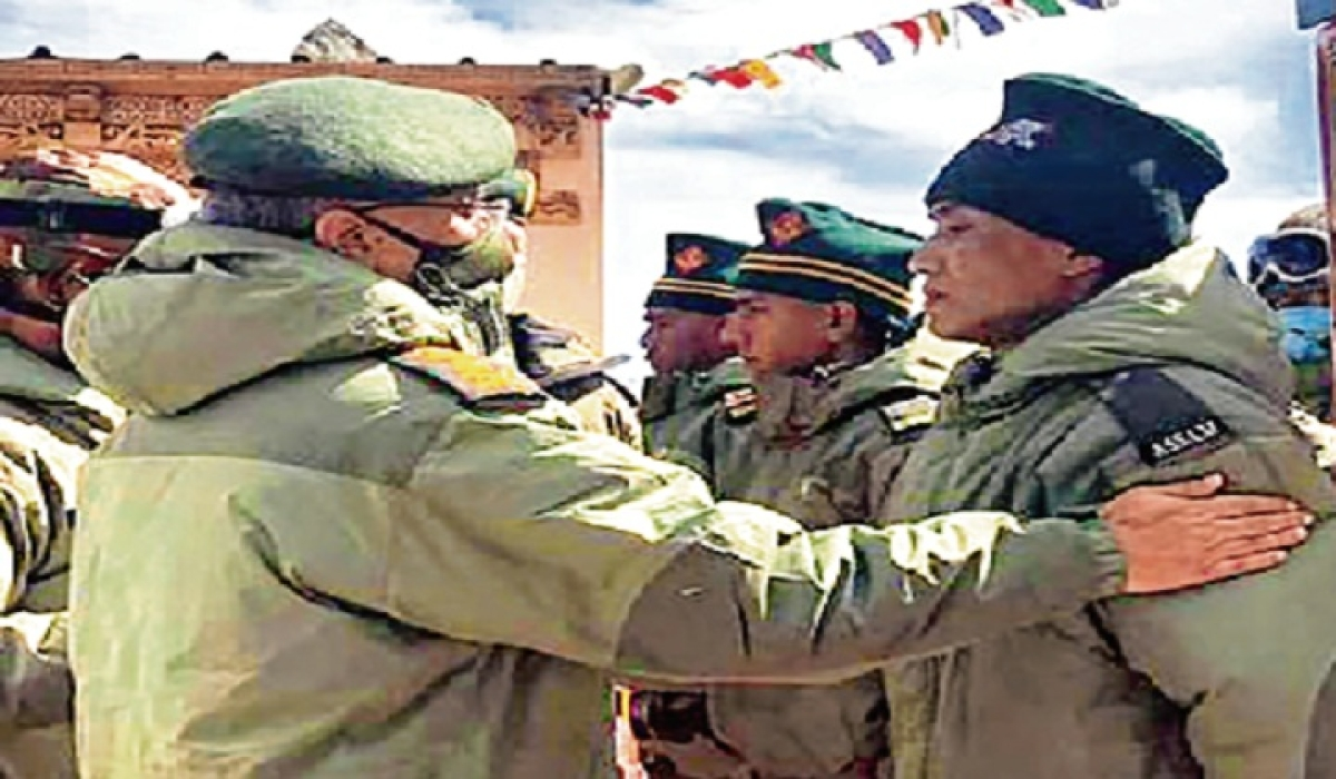 Army chief Gen MM Naravane meets his men to boost their morale and exhort them, in  forward areas of Eastern Ladakh.