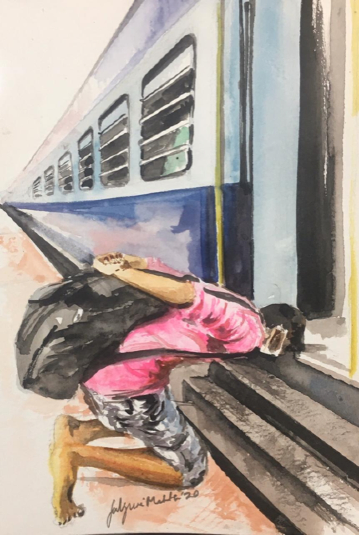 Temple, Church or Mosque, have shut their doors. None of them could feed me, give me shelter or any money.  Today, my God is this train, I bow down to thank you to finally take me to my home.. as I cannot deal with this selfish world!