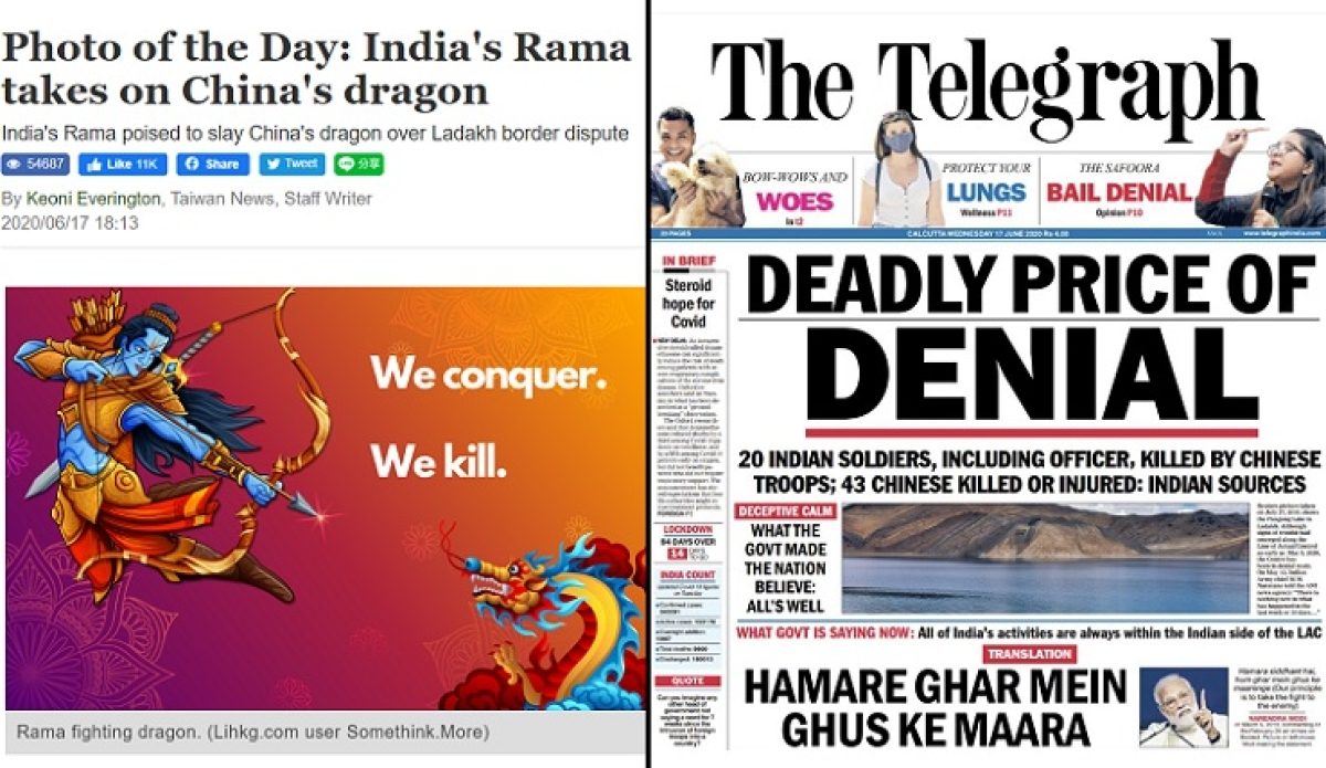 Taiwan News vs Telegraph: Netizens compares articles by two papers amid India vs China