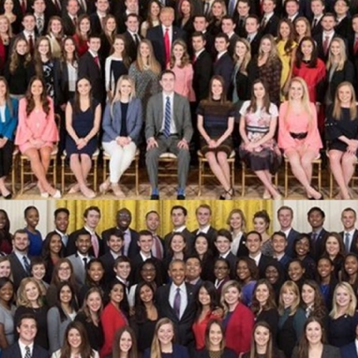 Amid 'Black Lives Matter' protests, here's a look at Trump's batch of interns at the White House