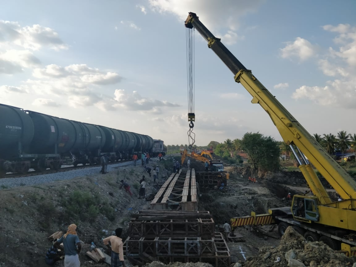 Major bridge of Upper Bhadra Dam between Shivani and Ajjampura Stations completed in record time by SWR