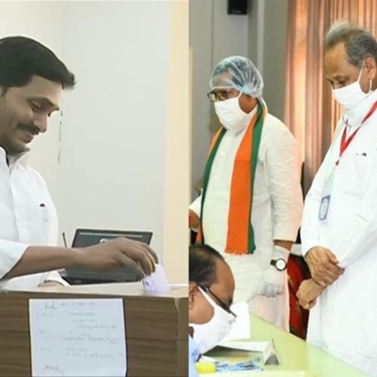 Voting begins for Rajya Sabha election amid coronavirus outbreak