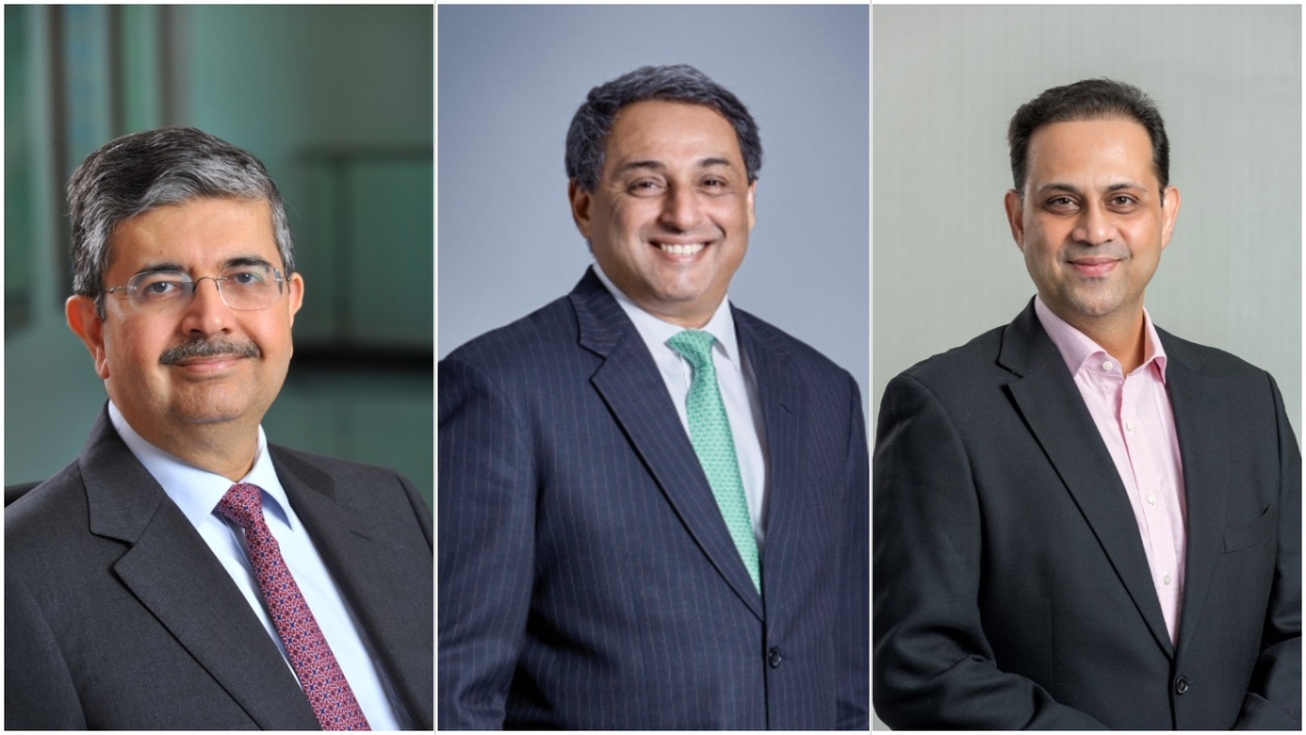 CII's new officer bearers for 2020-2021: Kotak Mahindra Bank's Uday Kotak; Tata Steel's T V Narendran; and Bajaj Finserv's Sanjiv Bajaj