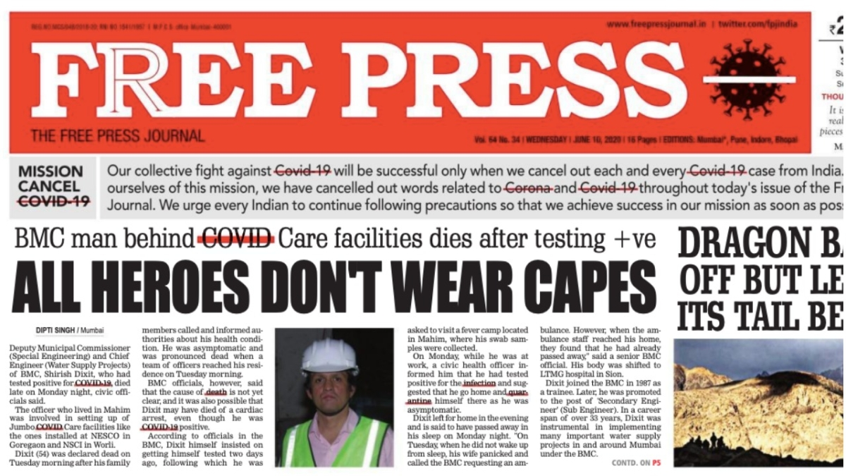 Corona cancelled: FPJ innovatively reminds readers that the threat of COVID-19 is far from over