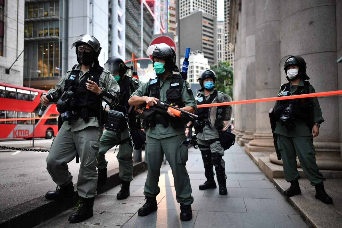 Hong Kong police bans major protest on security law