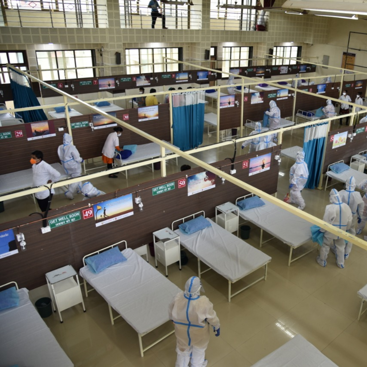 COVID care center patients protest in Maharashtra's Buldhana over delay in lunch