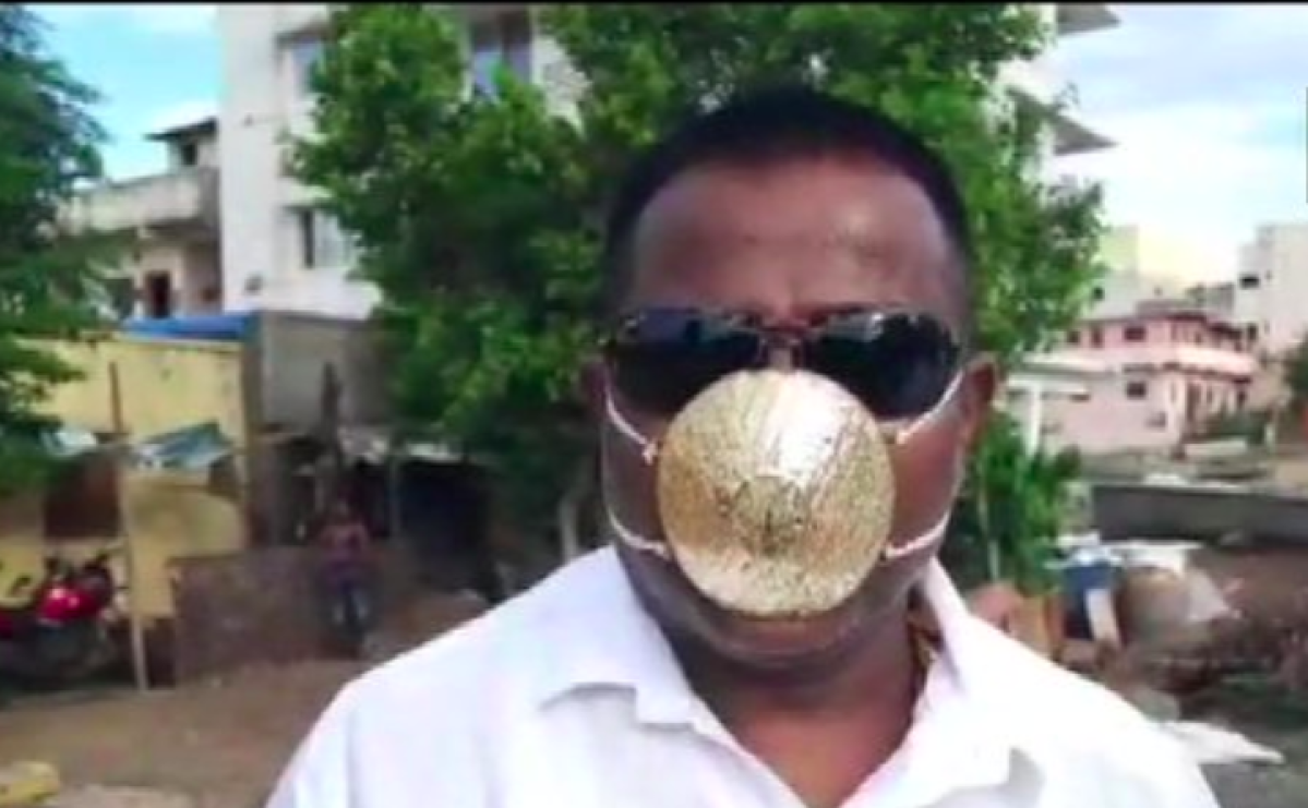Coronavirus in Pimpri-Chinchwad: Meet the man with the golden mask that cost him Rs 2.89 lakh to make