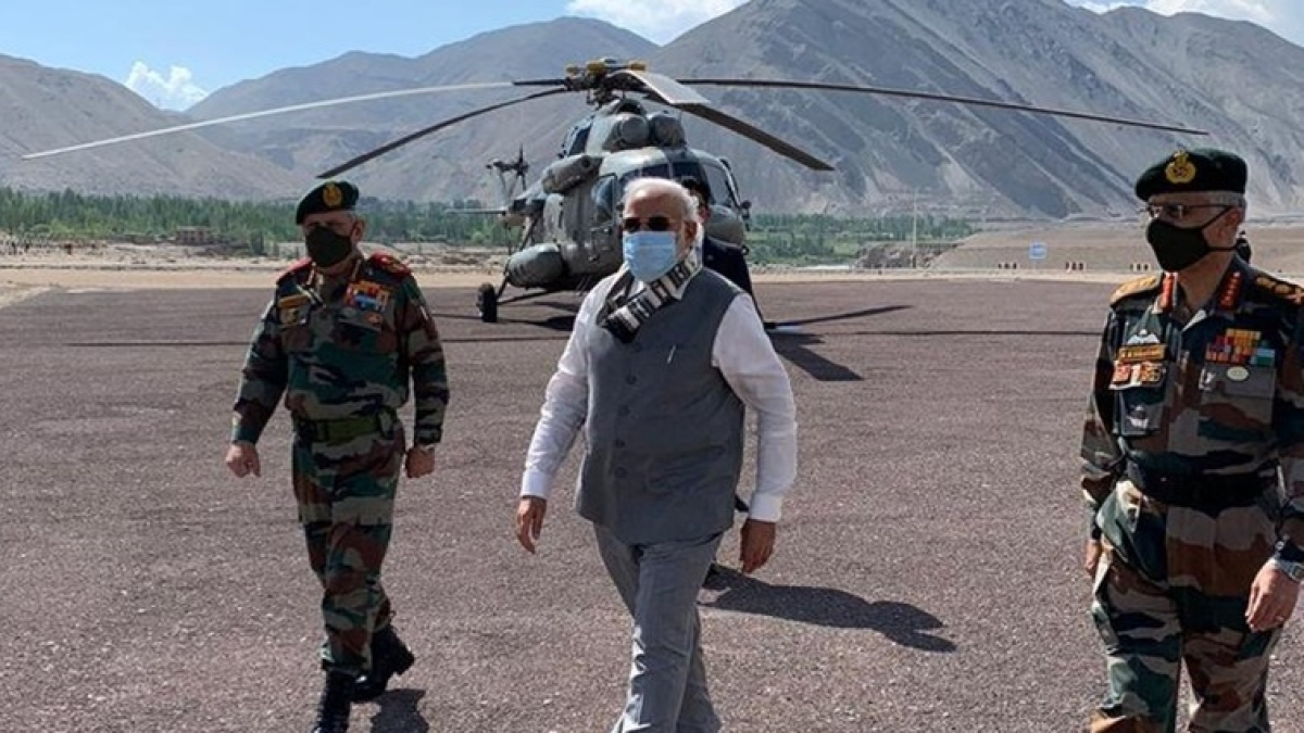PM Modi's Nimo Visit: Some laud him for rallying troops, others complain it's not 'forward enough'