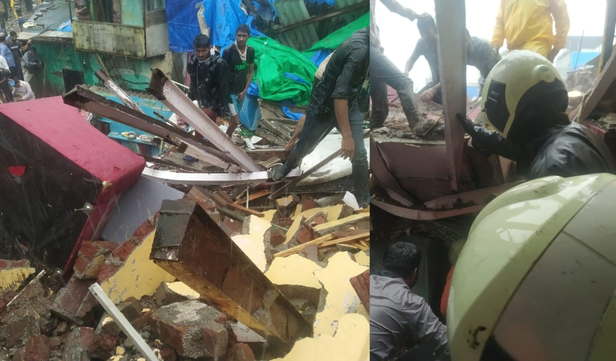 Mumbai: Two-storey building in Malad collapse, rescue operation is on