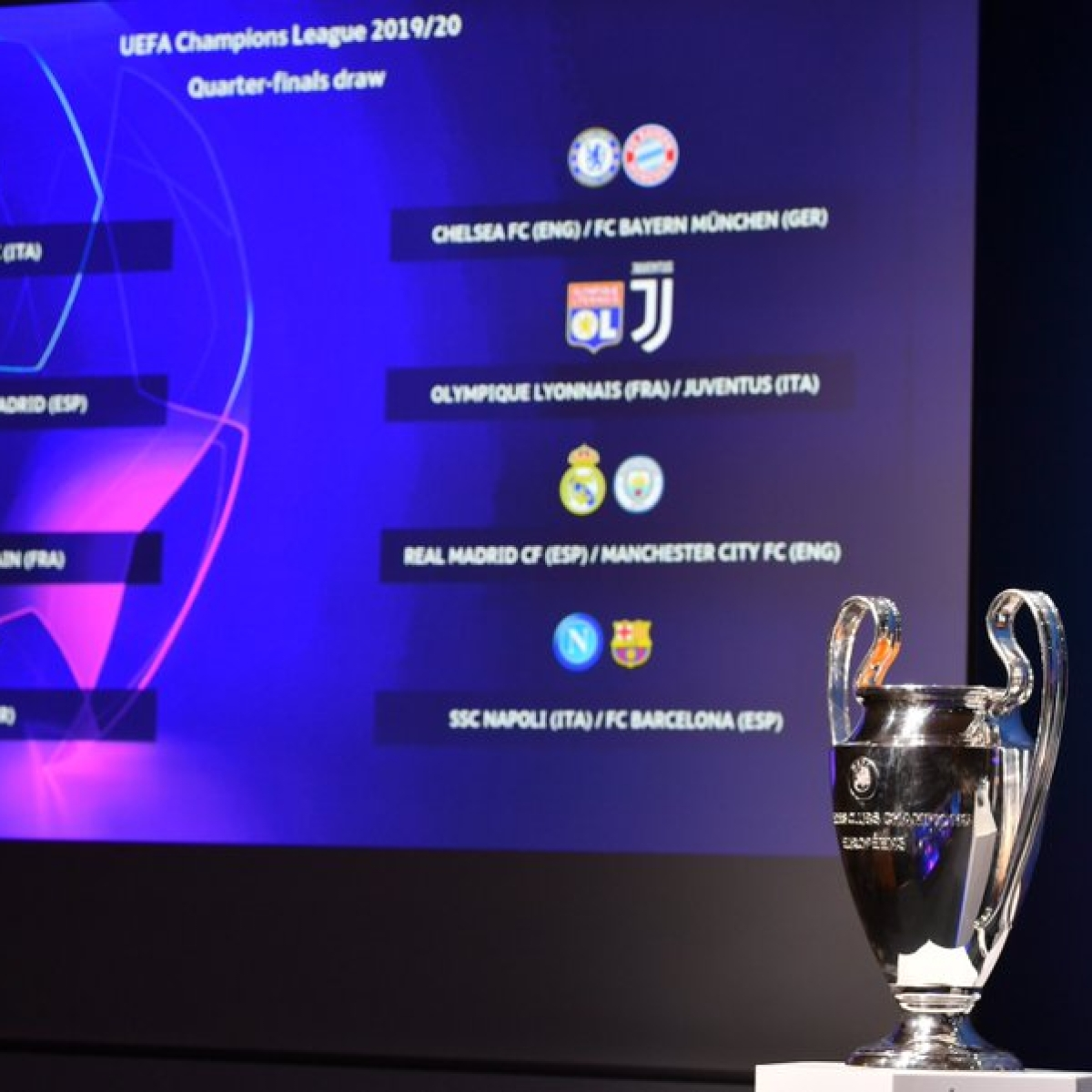 UEFA Champions League: Check out the quarter-finals draw for Real Madrid, Barcelona and others