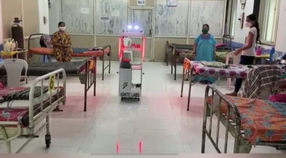 He will be back: Check out the robotic trolley serving patients in Poddar Hospital in Mumbai