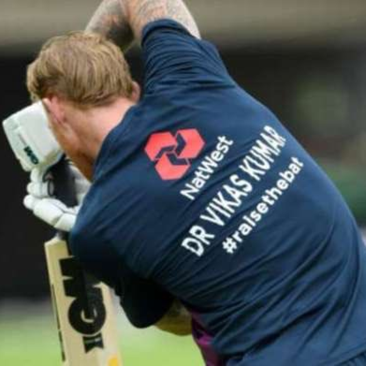 England skipper Ben Stokes wears jersey with Indian origin Dr Vikas Kumar's name