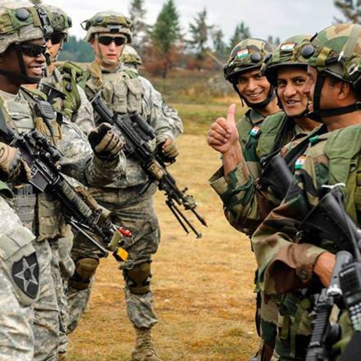 US Army is with India in a conflict