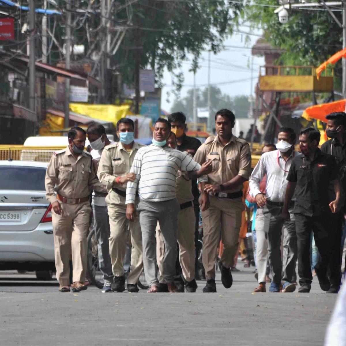 Uttar Pradesh's dreaded gangster Vikas Dubey, on the run, is 'nabbed' in MP Temple