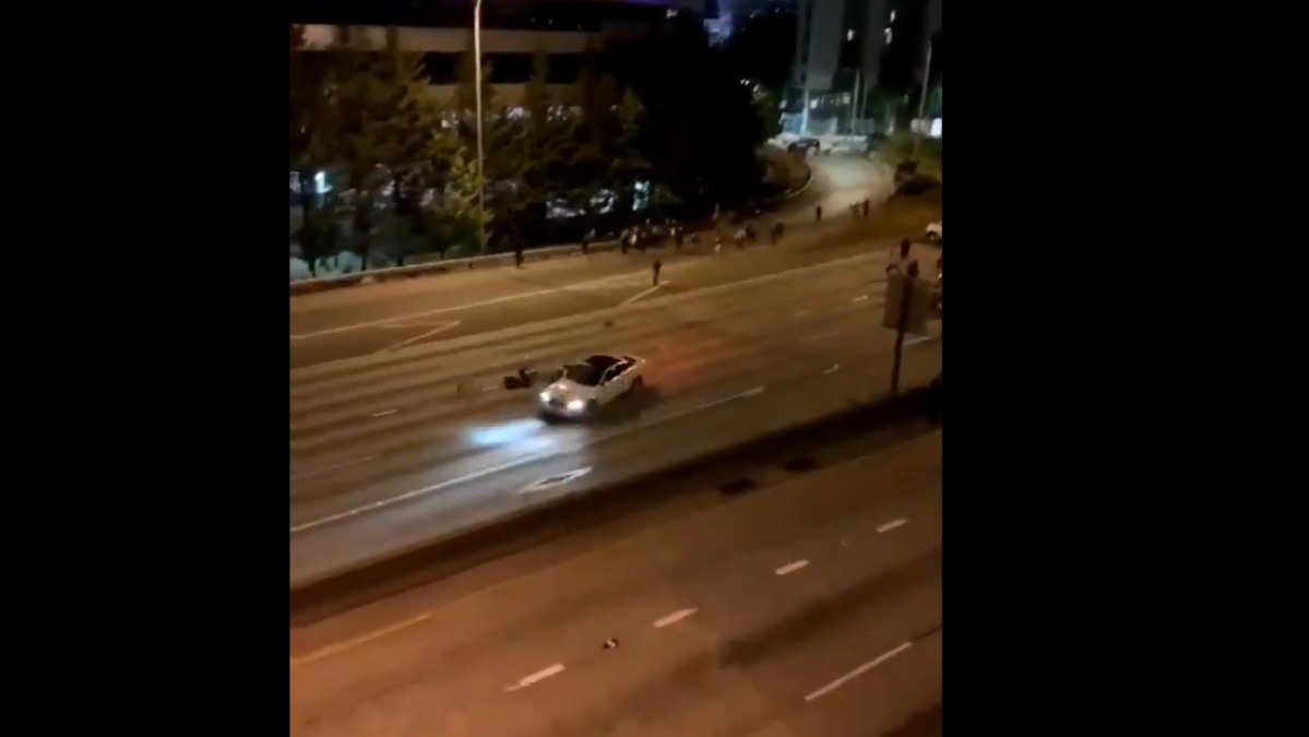 Watch: Two Seattle protesters run over by speeding car in the middle of the night