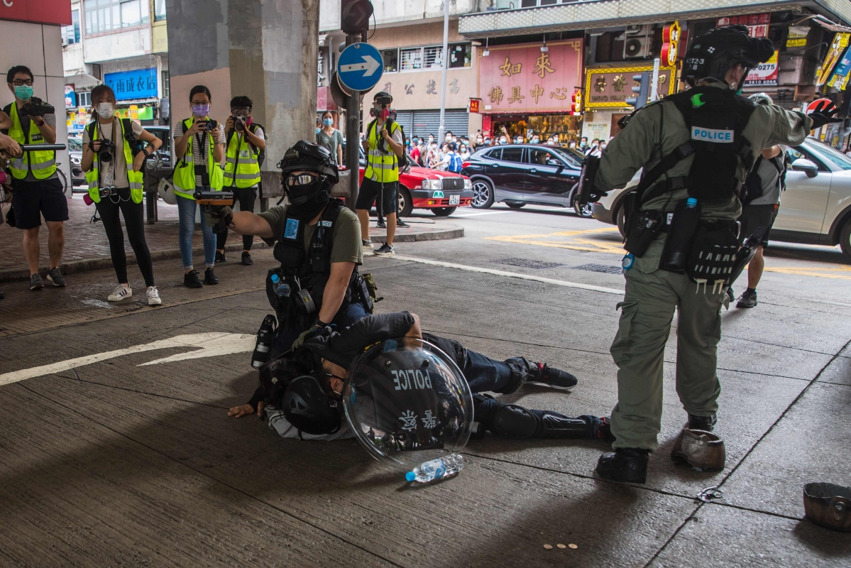 Hong Kong Police arrests over 300 protesters after passing draconian security law; furious Twitterati wonder 'what happened to human rights'
