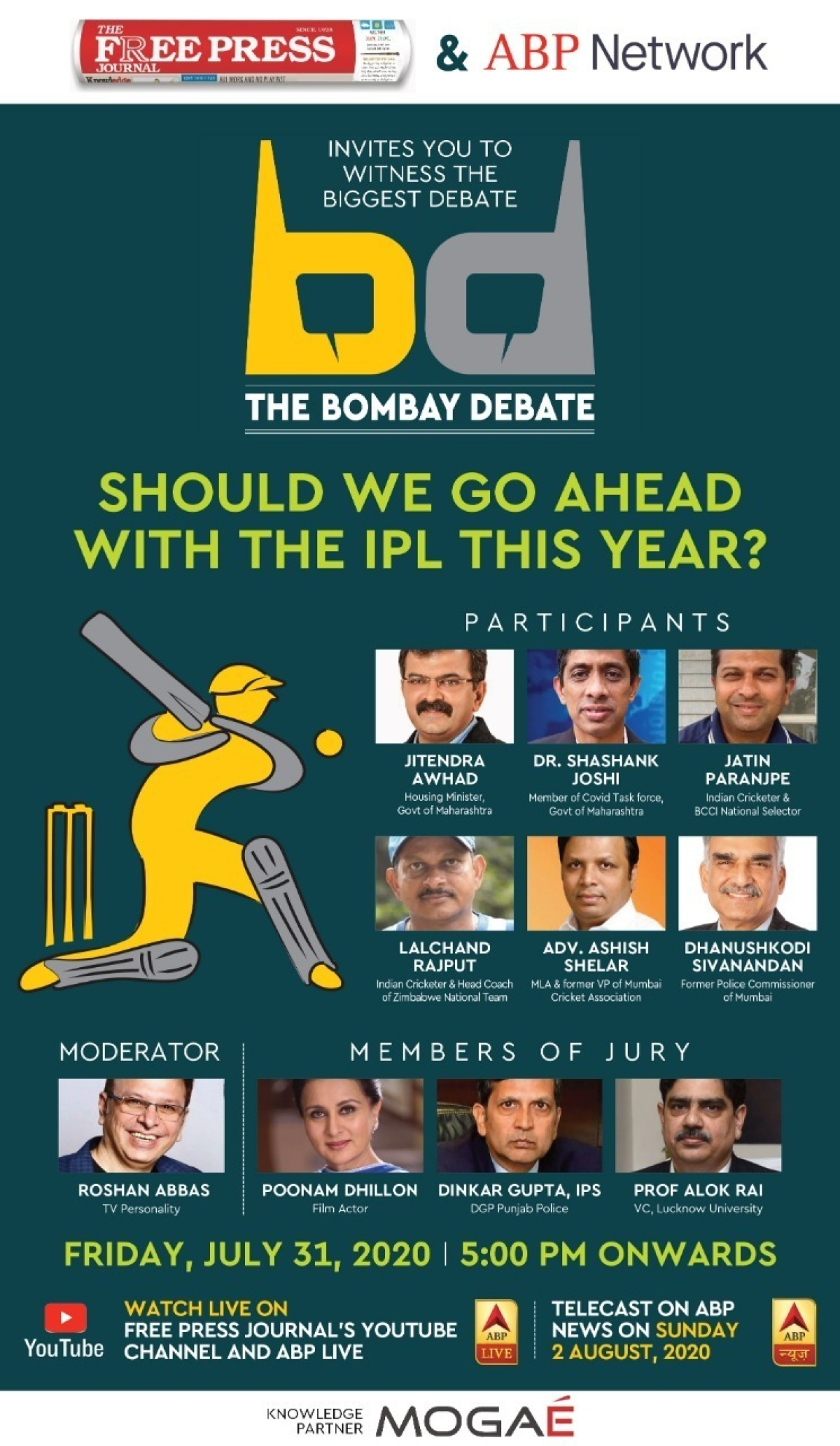 #TheBombayDebate: Should IPL be held at all? Coming soon on FPJ - stay tuned for more details