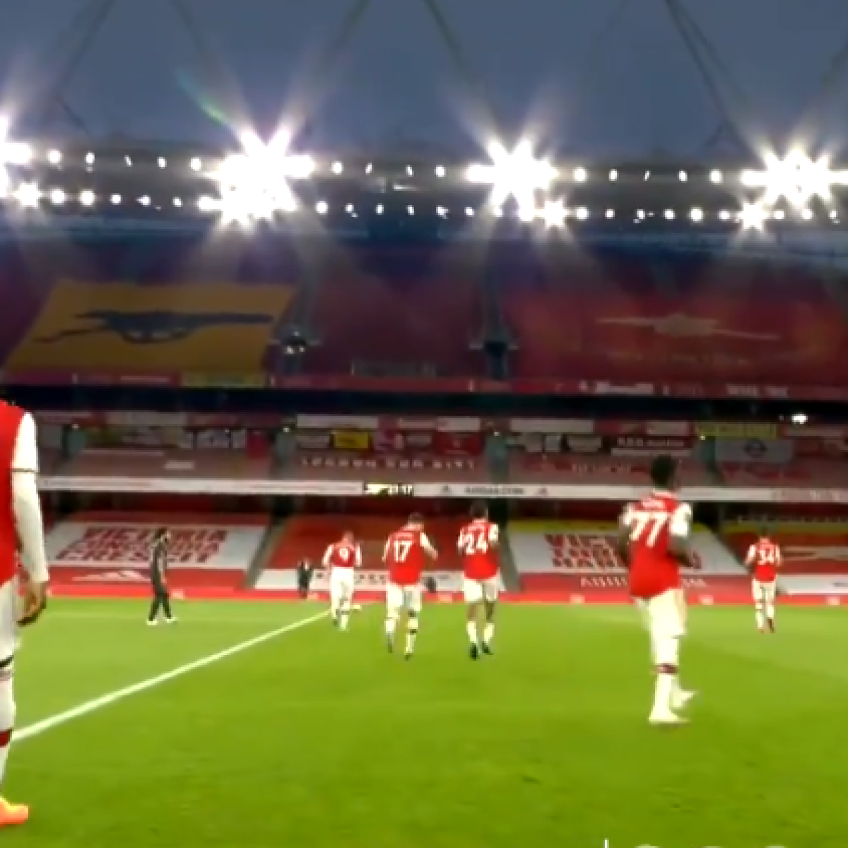 Watch: WWE thrilled as Arsenal walk into half-time on Triple H's entrance music