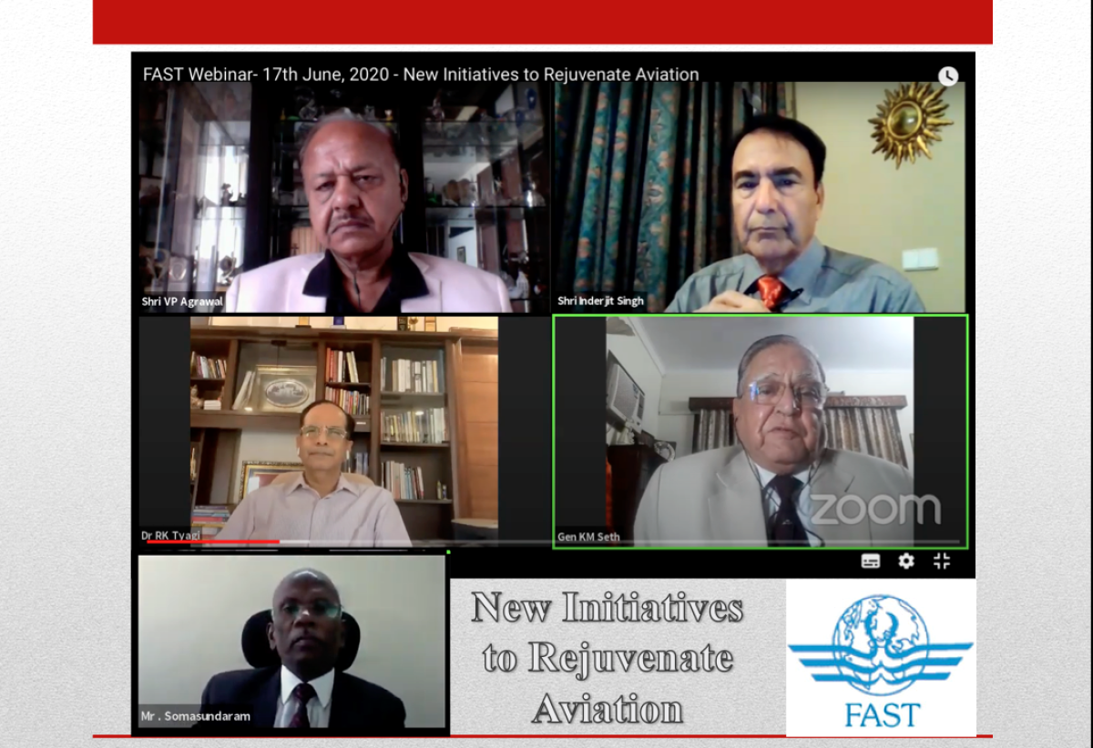"3rd Webinar by FAST on ""New Initiatives to Rejuvenate Aviation Sector"""