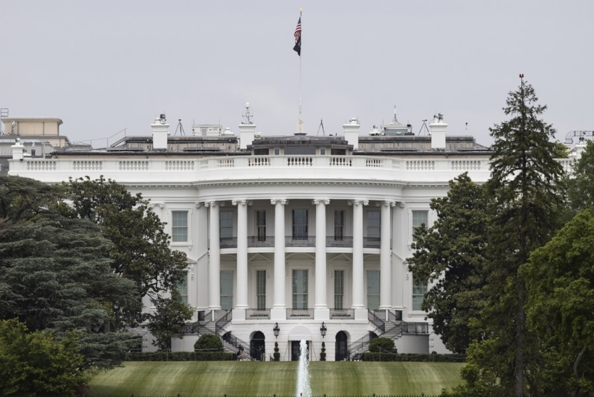 The White House as seen in Washington D.C., the United States, on May 21, 2020