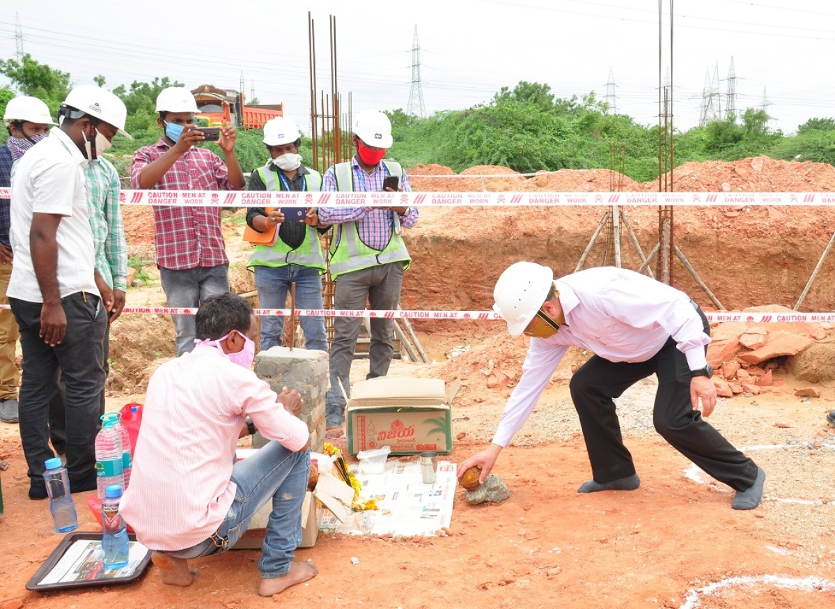 Bhoomi Puja held for CMCS Building of 100 MW Floating Solar Project