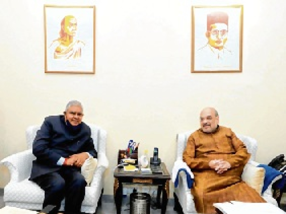 West Bengal Governor meets Amit Shah