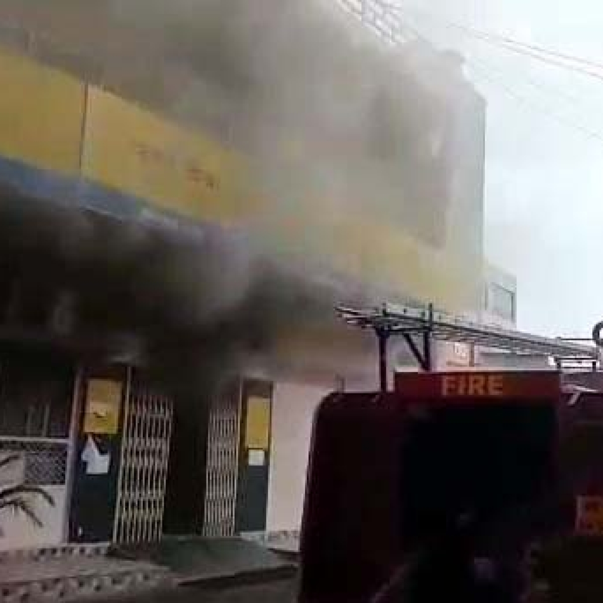 Bhopal: UCO Bank chest branch catches fire, machines gutted as fire tenders reach wrong place