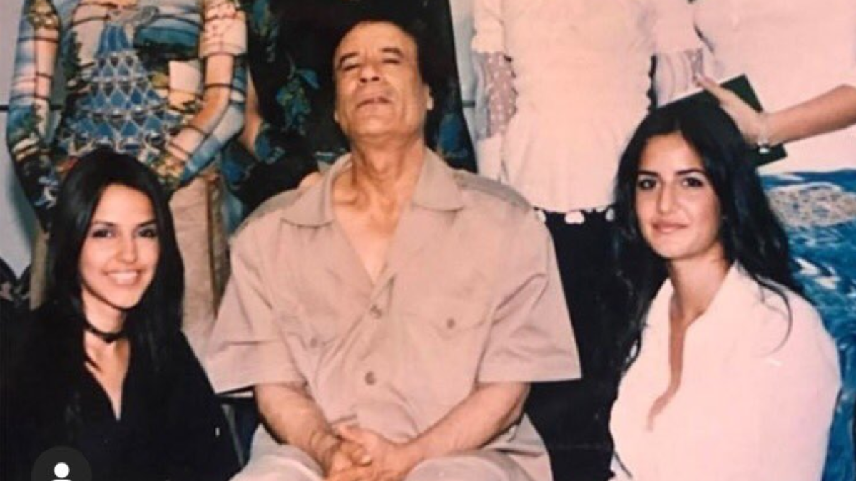 Page shares Katrina's throwback with Gaddafi, Twitter thinks it's Kader Khan