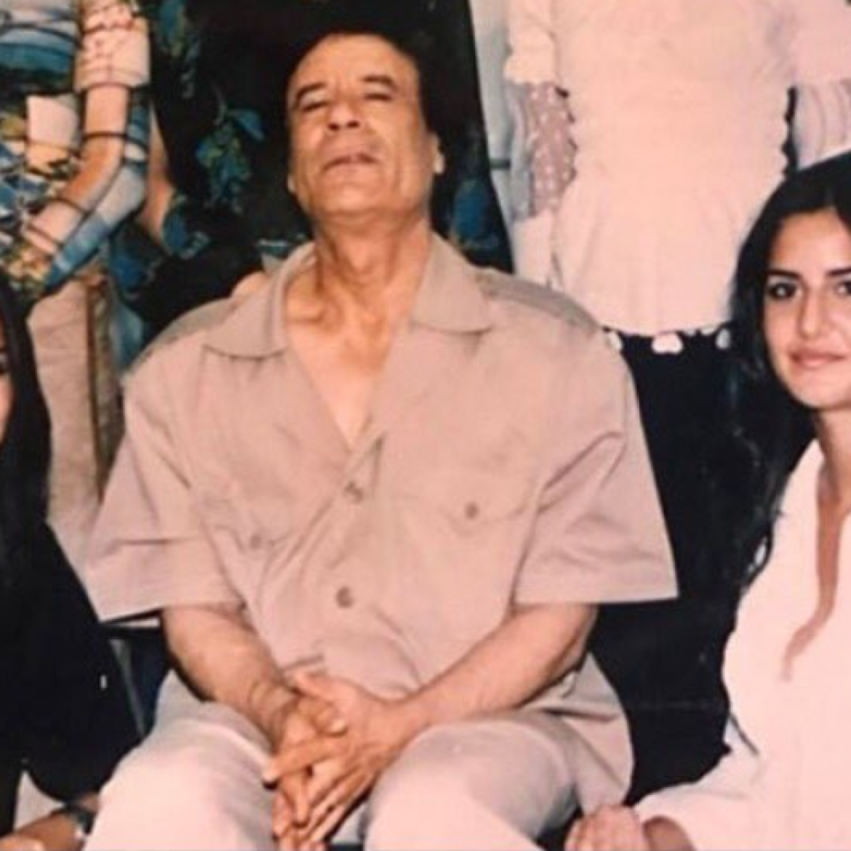 Page shares Katrina's throwback with Gaddafi, Twitter thinks it's Kader Khan