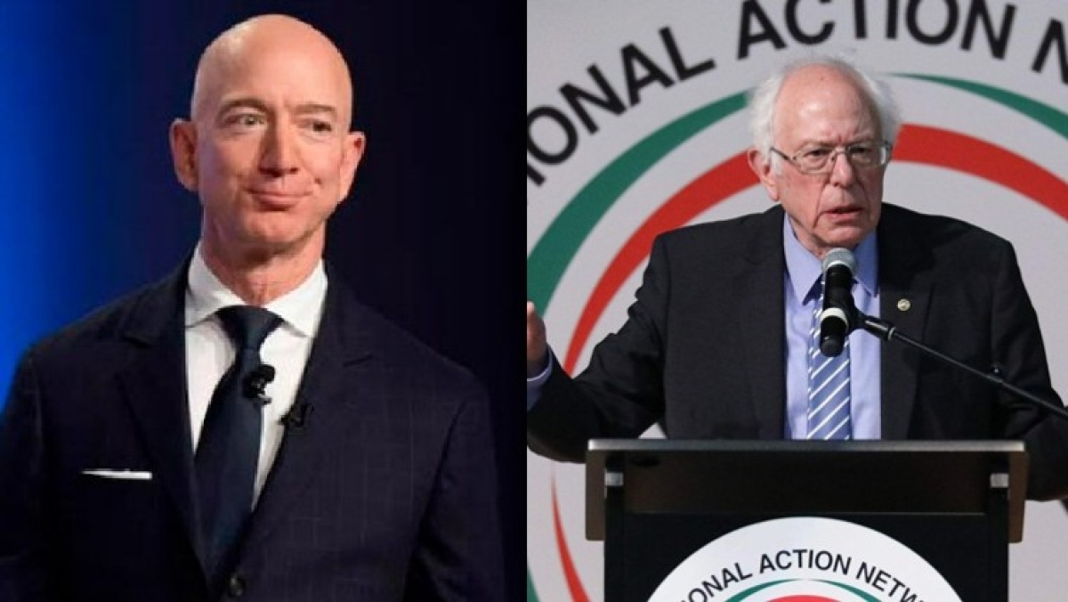 Jeff Bezos adds $13 billion to his net worth in single day; Bernie Sanders says 'Unacceptable!'