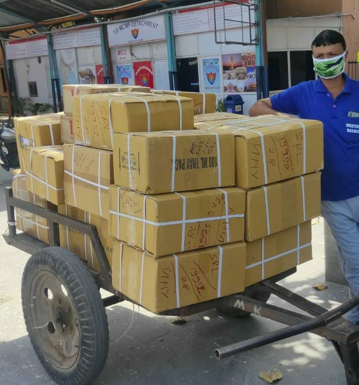 WR transports 70,000 tonnes of essentials via 379 Parcel Spl trains