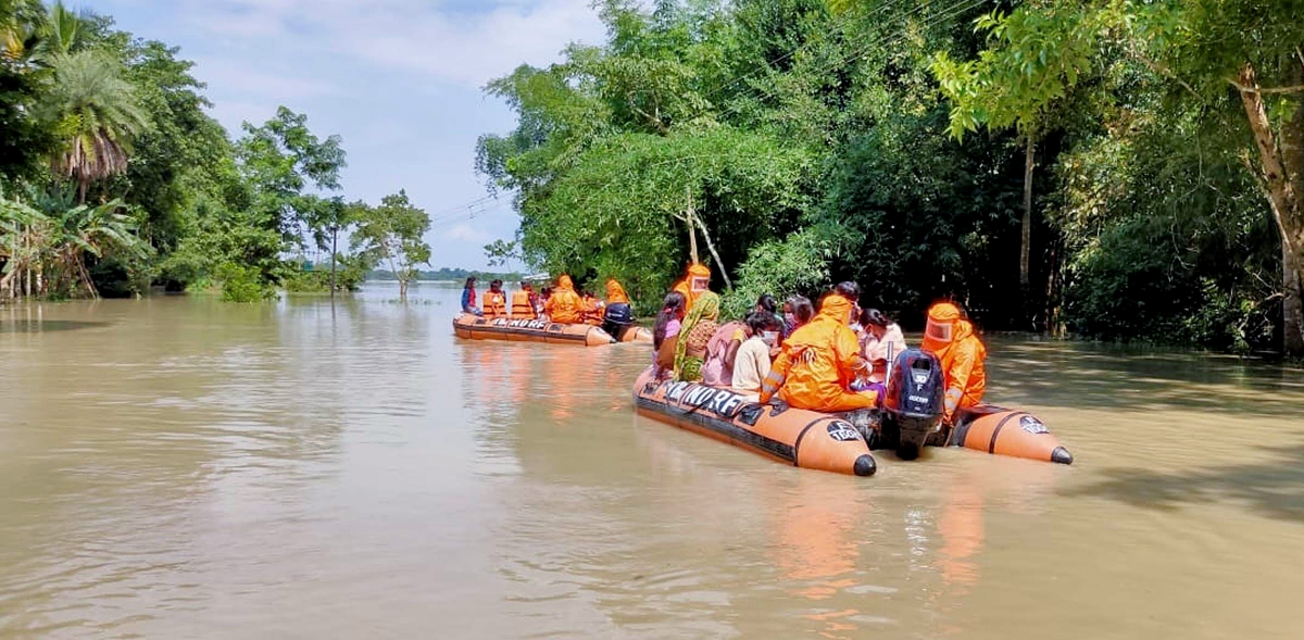 6 dead, 22 lakh hit in Assam floods; man electrocuted in Kolkata