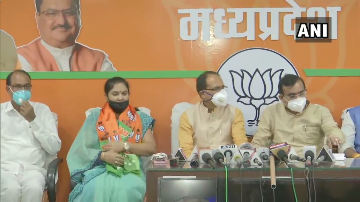 MP Congress MLA Sumitra Devi Kadsekar resigns from party and joins BJP