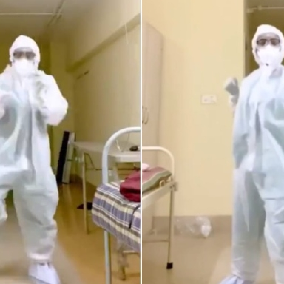 Watch: Mumbai doctor grooves to Nora Fatehi's 'Garmi' in PPE suit; video goes viral