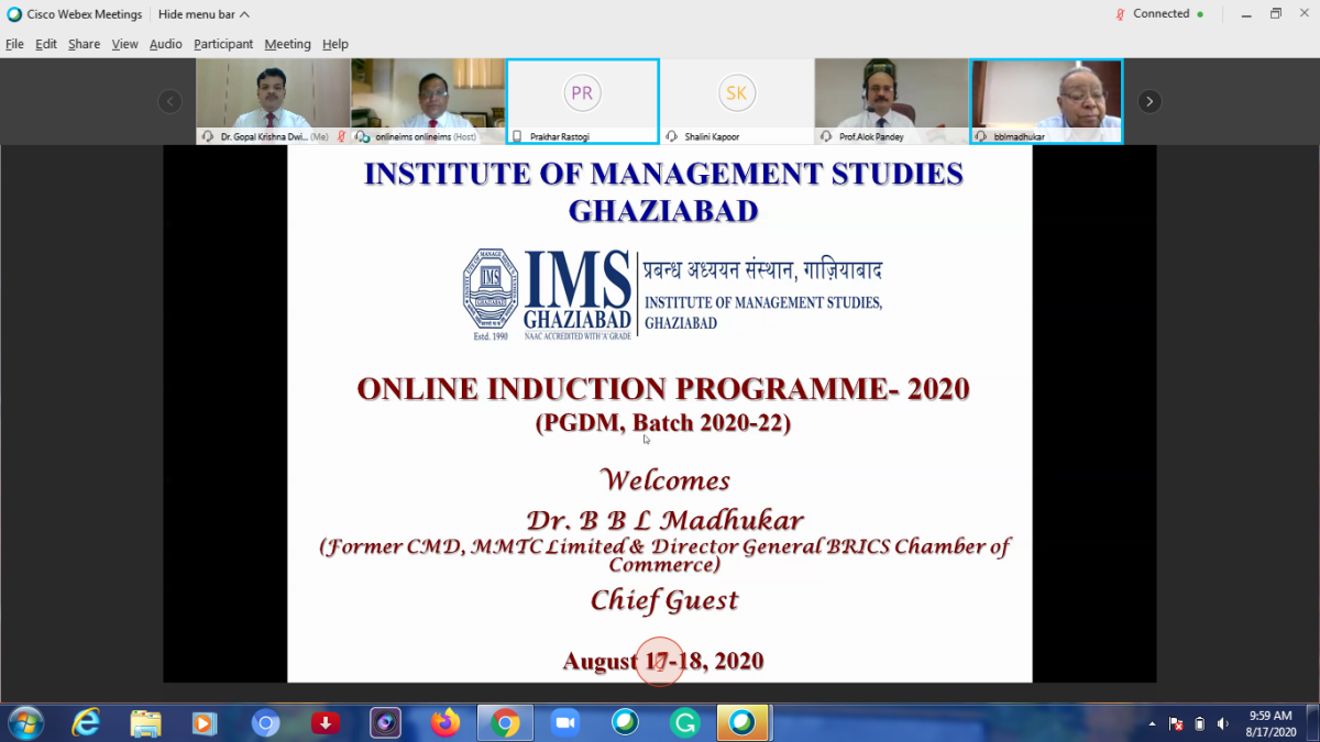 31st batch of PGDM commences at IMS, Ghaziabad with 'Aarohan 2020'
