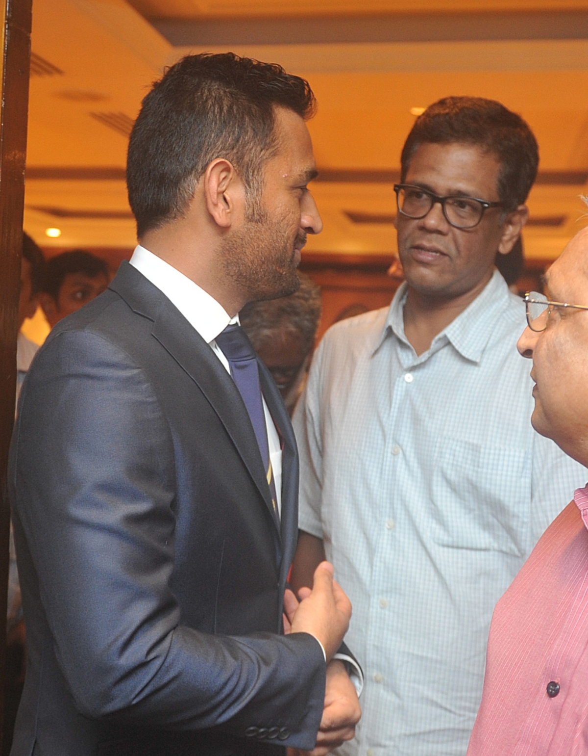 Dhoni and I in January 2016 before the Indian team's departure for Australia
