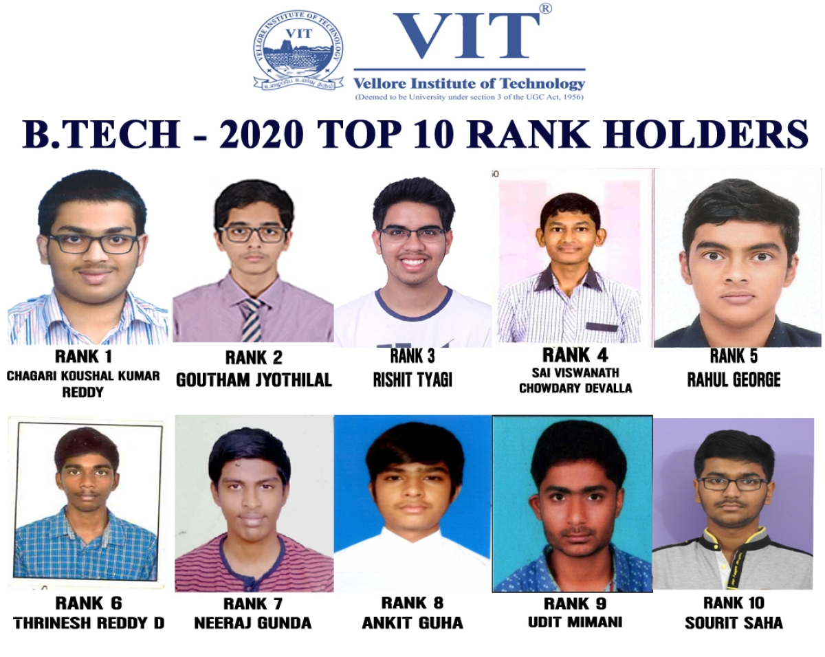 Vellore Institute of Technology (VIT) declares B. Tech. admissions results