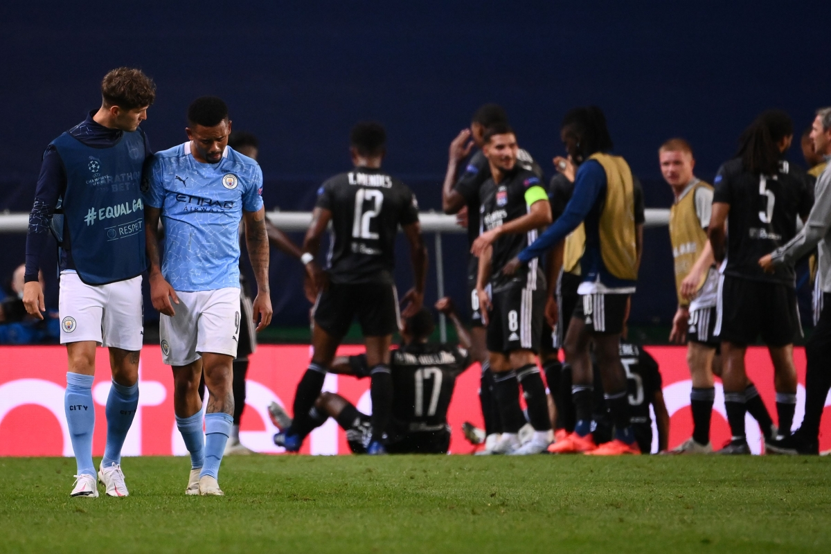 Gone in sixty seconds: Lyon condemn Pep Guardola's Manchester City to 3-1 loss in Lisbon in Champions League
