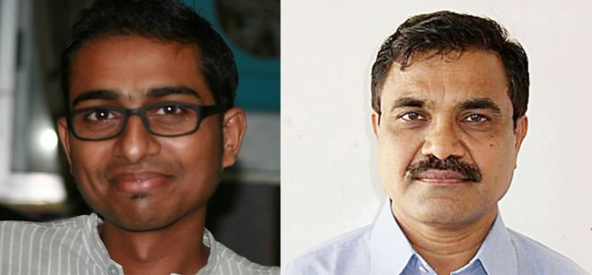Mahesh Raut (lef) and Anand Teltumbde (right)